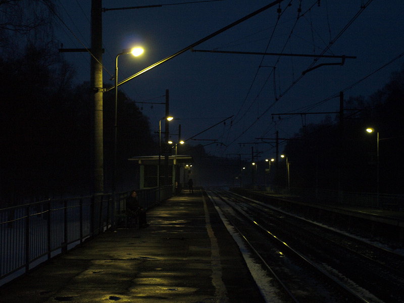 Вечер на платформе... Нахабино, весна 2010