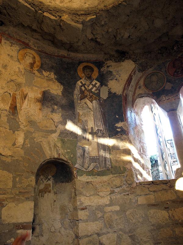 Древние фрески.  церковь Святого Николая, Демре, Турция, осень 2013