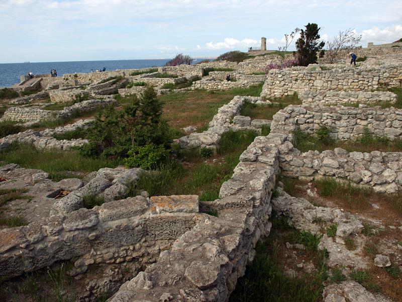 Рисунки руин. Херсонес, Крым, весна 2010