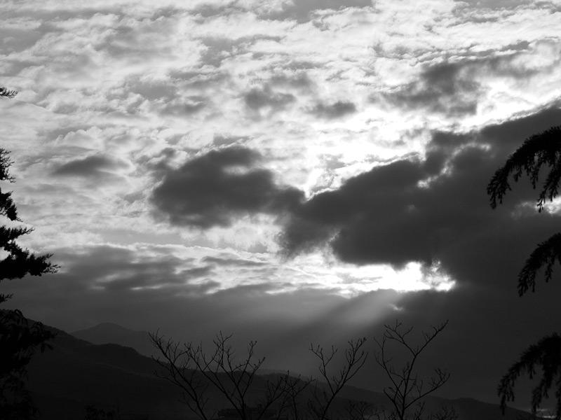 Тучи на закате. Алушта, Крым, весна 2010