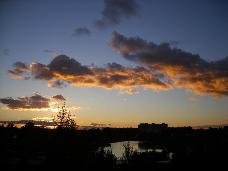 Кружева облаков Нахабино, осень 2006