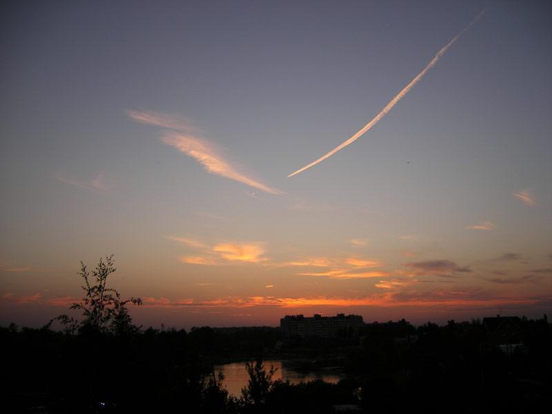 Небесные росчерки Нахабино, лето 2007