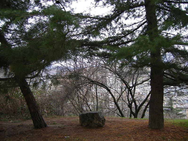 Камень задумчивости Алушта, Крым, зима 2007