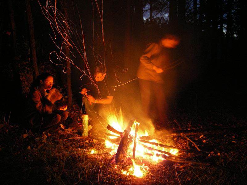 Огненные мухи искр Нахабино, осень 2006