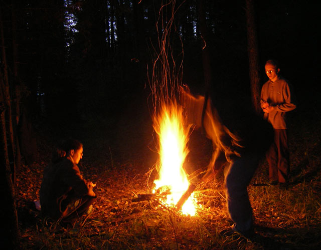 У огня Нахабино, осень 2006