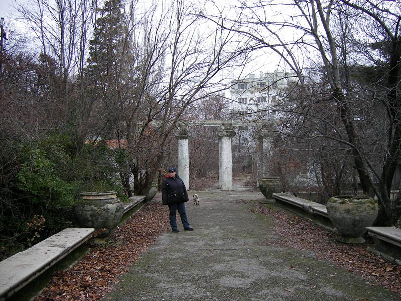 На замшелой аллее... Ливадия, Крым, зима 2008