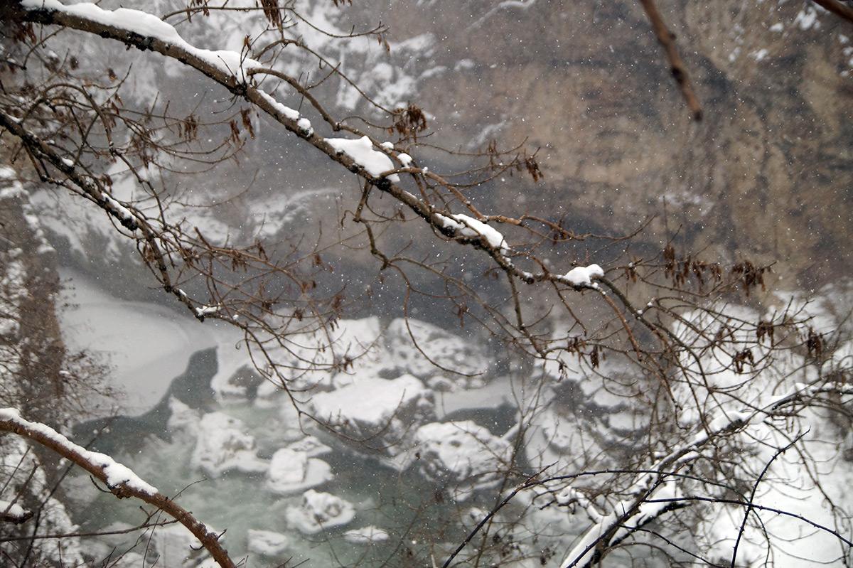 Хаджохская теснина, Краснодарский край, зима 2016