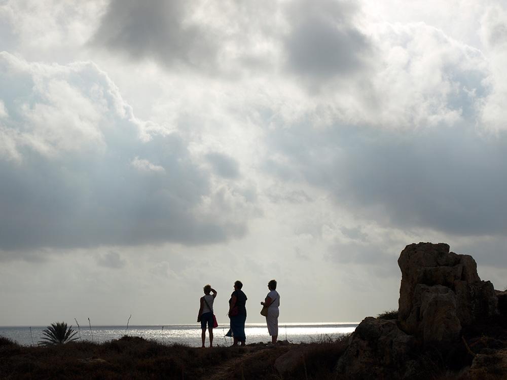 Три богатыря.:)  Пафос, Кипр, осень 2014