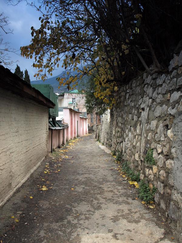 Зимняя осень в переулках Гурзуфа.  Гурзуф, Крым, зима 2011