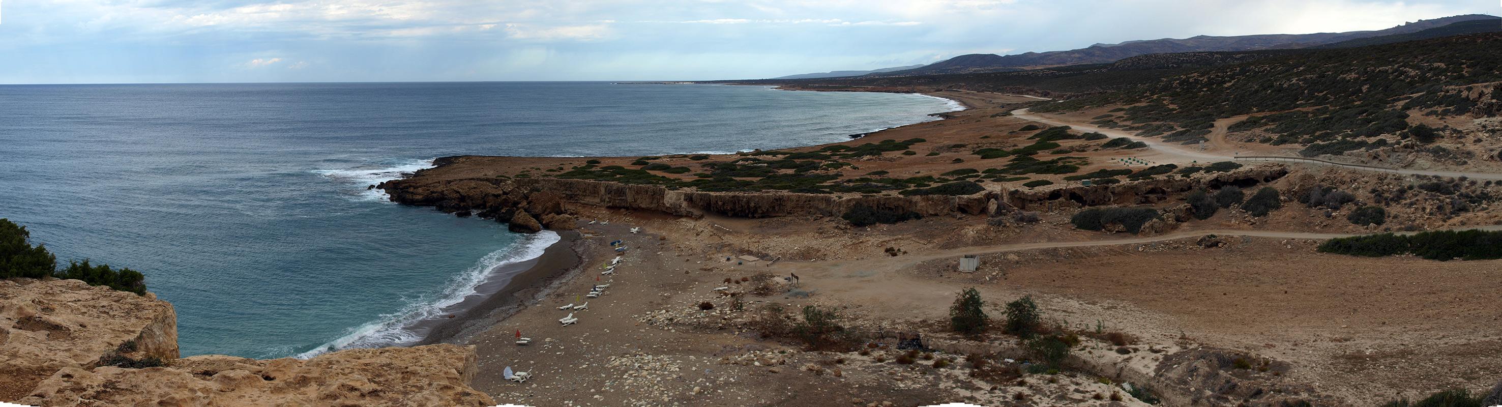 Панорама заповедника Акамас.   Кипр, осень 2014