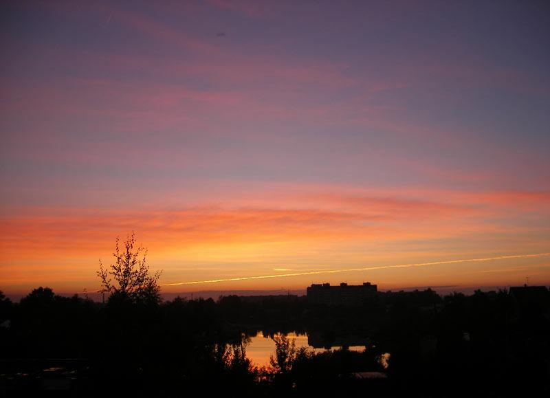 Вечерняя иллюминация Нахабино, осень 2006