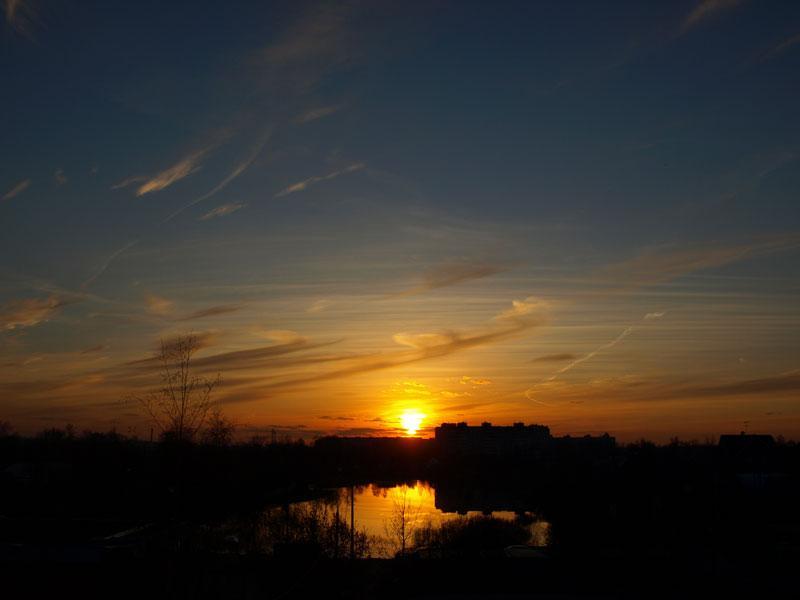 Только вечер и закат... Нахабино, весна 2008