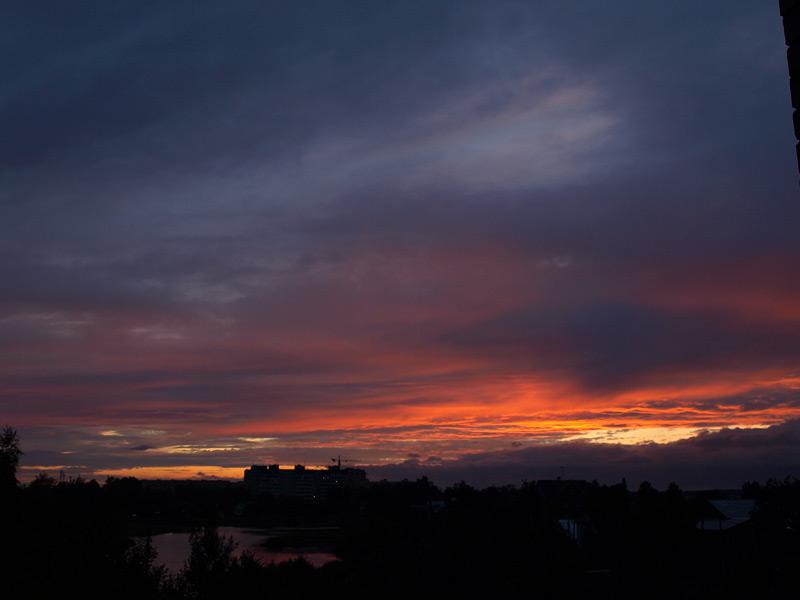 Сине-красные переливы...  Нахабино, лето 2009