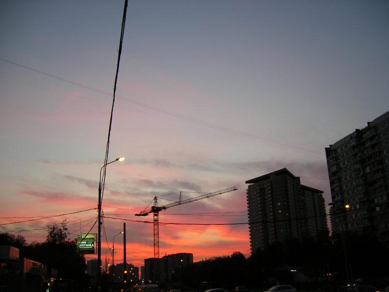 Сияние в небесах... Москва, осень 2007