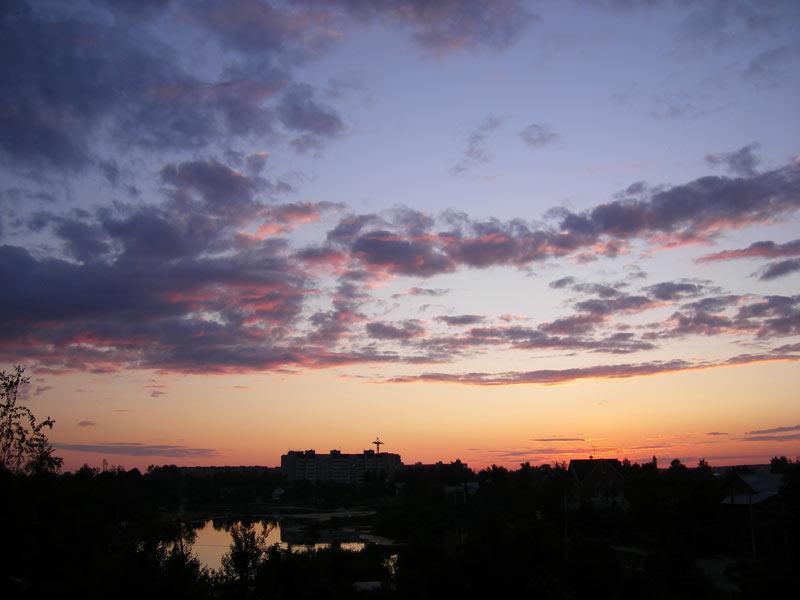 Теплый вечер Нахабино, лето 2007