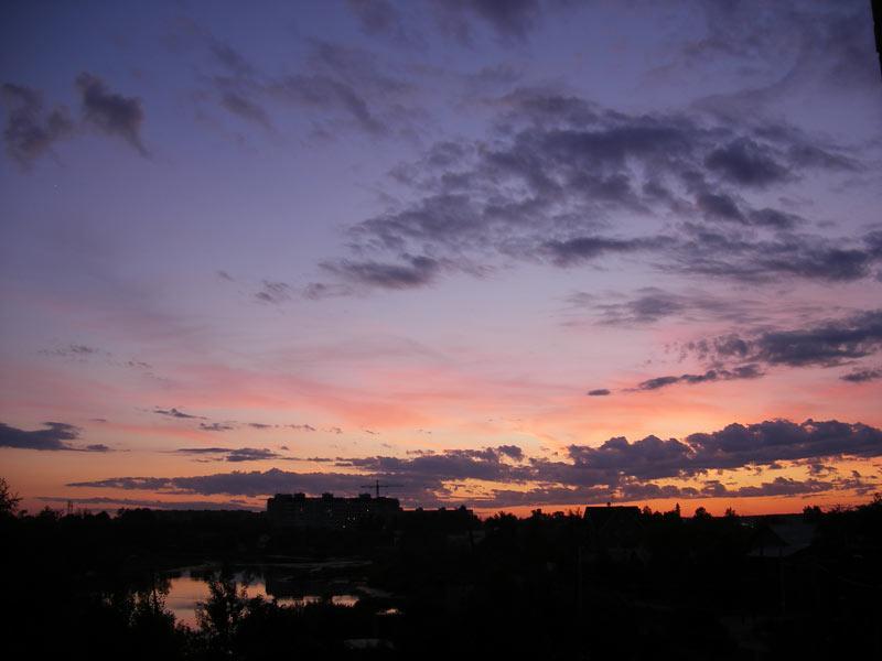 Краски заката Нахабино, лето 2007