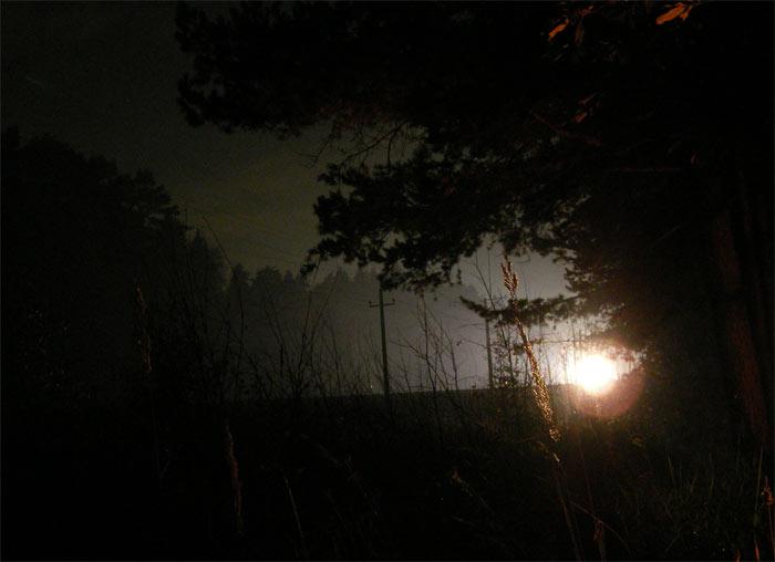 Движение электрички Нахабино, осень 2006