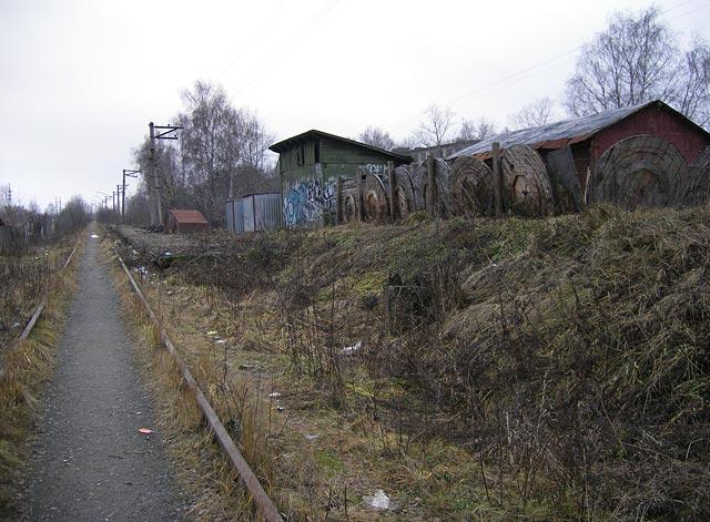 """Платформа \""""Парковая-2\"""".  (автор не уверен, что называлась она именно так) Окрестности Нахабина, осень 2006"""